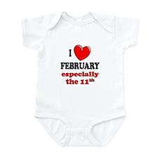 February 11th Infant Bodysuit