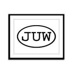 JUW Oval Framed Panel Print