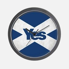 Yes to an Indepedent Scotland 'Saor Alb Wall Clock