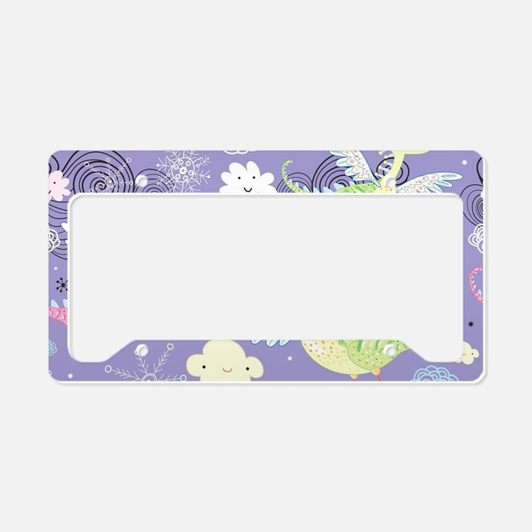 Cute Dragons License Plate Holder
