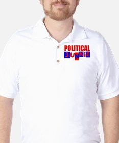 Political Junkie Golf Shirt
