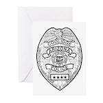 Cooldige Arizona Police Greeting Cards (Pk of 20)