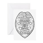 Cooldige Arizona Police Greeting Card