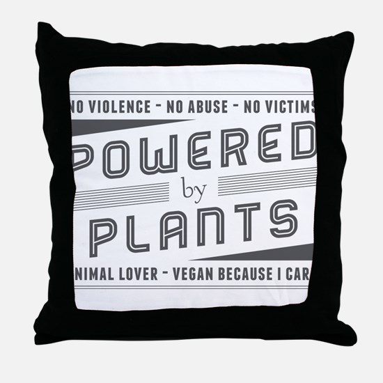 No Violence Powered by Plants Throw Pillow