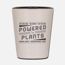 No Violence Powered by Plants Shot Glass