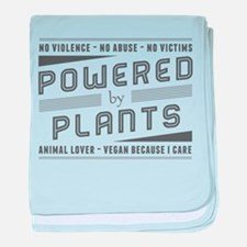No Violence Powered by Plants baby blanket