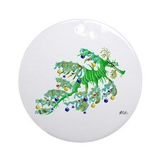 Festive Sea Dragon Ornament (Round)