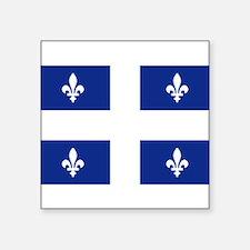 """Unique Quebec Square Sticker 3"""" x 3"""""""