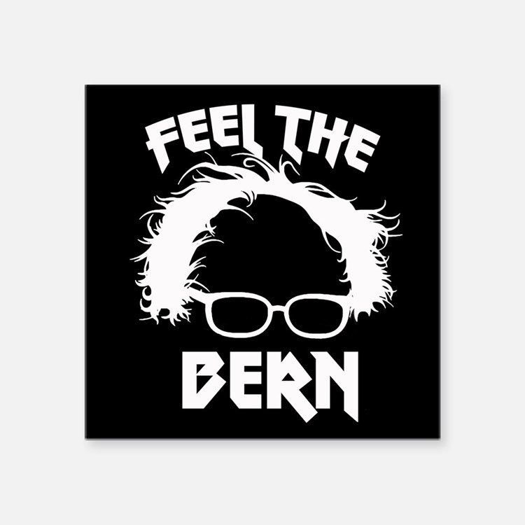 Feel the Bern Metal Badass Sticker