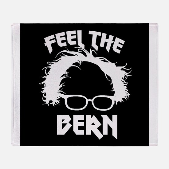 Feel the Bern Metal Badass Throw Blanket