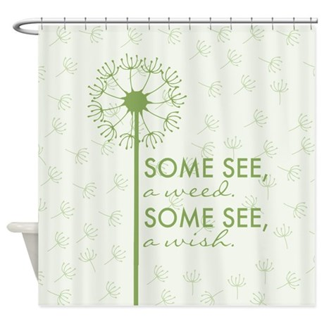 dandelion shower curtain by admin cp119312604