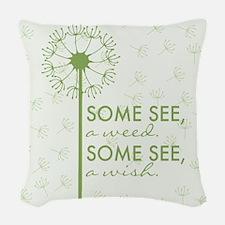 Dandelion Woven Throw Pillow