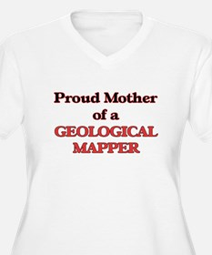 Proud Mother of a Geological Map Plus Size T-Shirt