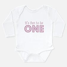 Cute 1st bday Long Sleeve Infant Bodysuit