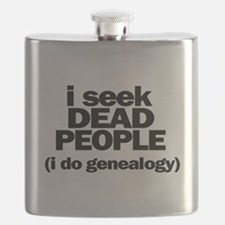 I Seek Dead People (Genealogy) Flask