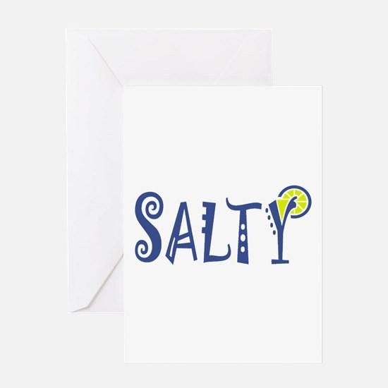 Salty Margarita Greeting Cards