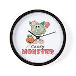 Halloween Candy Monster Wall Clock