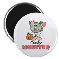 Halloween Candy Monster Magnet