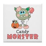 Halloween Candy Monster Tile Coaster