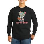 Halloween Candy Monster Long Sleeve Dark T-Shirt