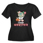 Halloween Candy Monster Plus Size Scoop Neck Tee