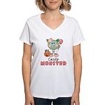Halloween Candy Monster Women's V-Neck T-Shirt
