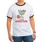 Halloween Candy Monster Ringer T