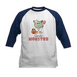 Halloween Candy Monster Kids Baseball Jersey