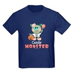 Halloween Candy Monster Kids Dark T-Shirt