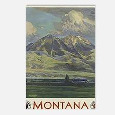 Cute Vintage railroad Postcards (Package of 8)