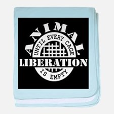 Animal Liberation - Until Every Cage baby blanket