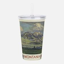 Vintage poster - Monta Acrylic Double-wall Tumbler