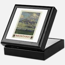 Vintage poster - Montana Keepsake Box