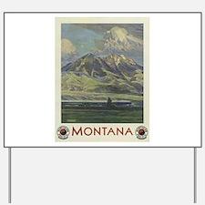 Vintage poster - Montana Yard Sign
