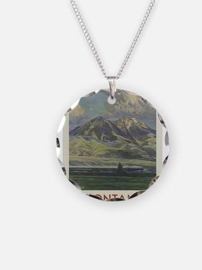 Vintage poster - Montana Necklace