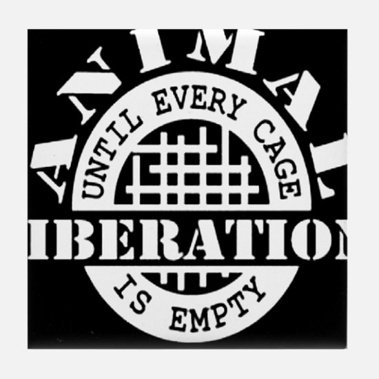 Animal Liberation - Until Every Cage Tile Coaster