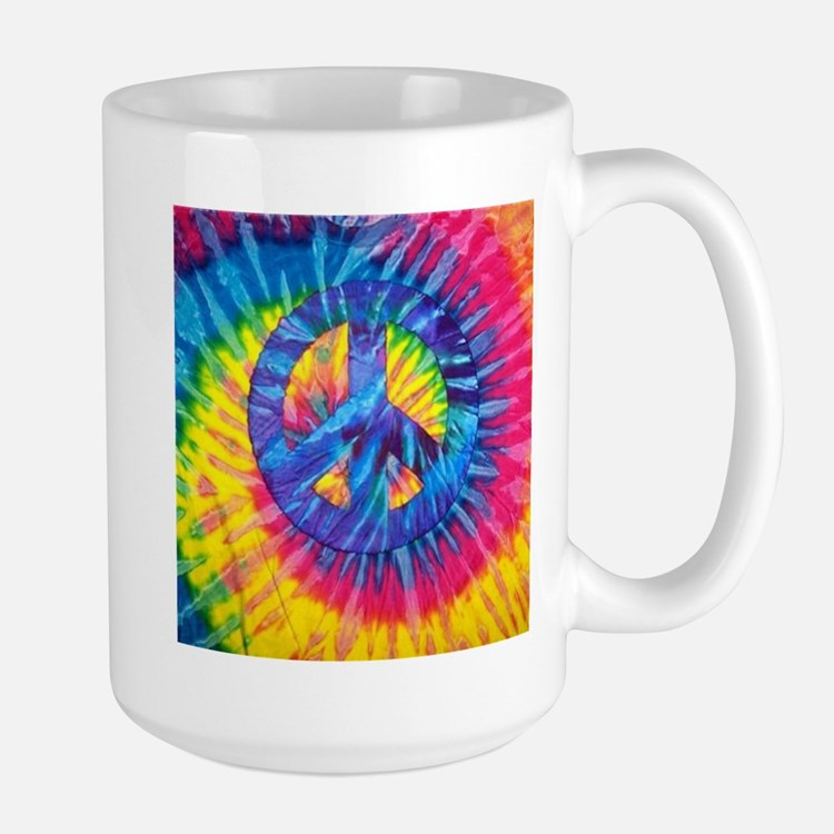 Peace Sign Hippie Hippy Psychedelic Tie-Dye Mugs