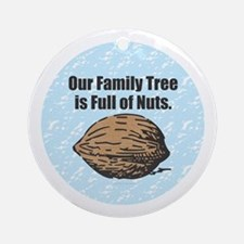 Family Tree Nuts Round Ornament