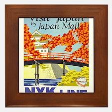 Vintage poster - Japan Framed Tile