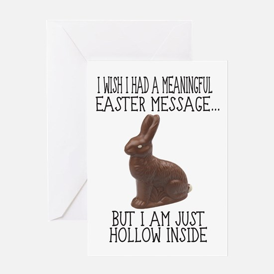 Hollow Inside Funny Easter Greeting Cards