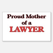 Proud Mother of a Lawyer Decal