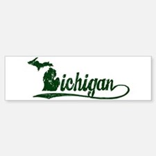 Michigan Script Bumper Bumper Bumper Sticker