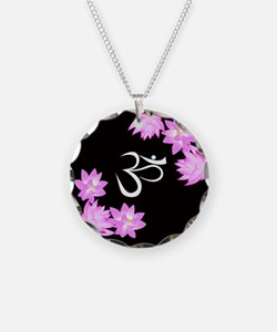 Om and lilies Necklace