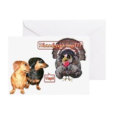 Thanksgiving? Dachshunds Greeting Card