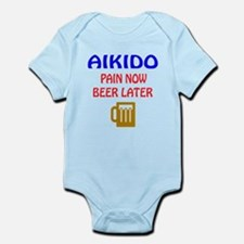 Aikido Pain Now Beer Later Infant Bodysuit
