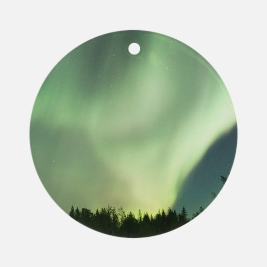 Northern Lights Round Ornament