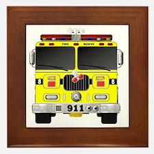 Cute Firefighter kids Framed Tile