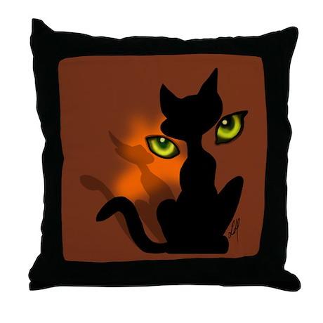 """Cat eyes"" Throw Pillow"