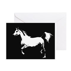 AFTM Arabian Mare 2BW Greeting Cards (Pk of 10)