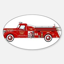 Fire Truck - Vintage fire truck. Decal